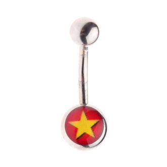 Bijuterie piercing- Star / Red , NNM