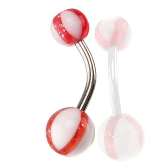 Bijuterie piercing  - White / Red , NNM