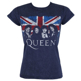 tricou stil metal femei Queen - Denim - ROCK OFF, ROCK OFF, Queen