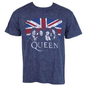 tricou stil metal bărbați Queen - Denim - ROCK OFF, ROCK OFF, Queen