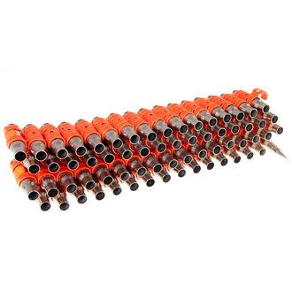 Curea Argint & Fluorescent - Orange Metal Bullet