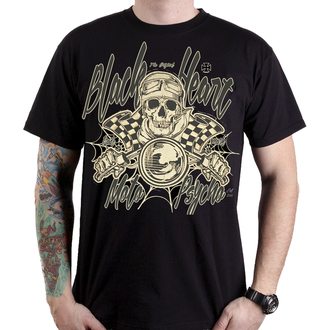 tricou de stradă bărbați - MOTO PSYCHO - BLACK HEART, BLACK HEART
