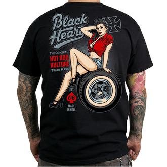 tricou de stradă bărbați - REBECCA - BLACK HEART, BLACK HEART
