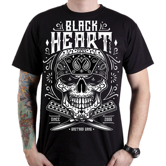 tricou de stradă bărbați - BANDANA SKULL - BLACK HEART, BLACK HEART