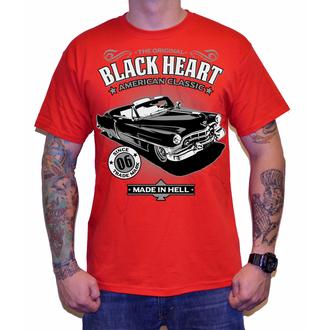 tricou de stradă bărbați - CADILLAC - BLACK HEART, BLACK HEART