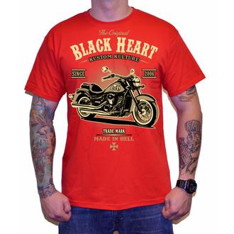 tricou de stradă bărbați - HARLEY - BLACK HEART, BLACK HEART