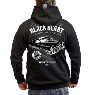 hanorac cu glugă bărbați - CADILLAC - BLACK HEART, BLACK HEART