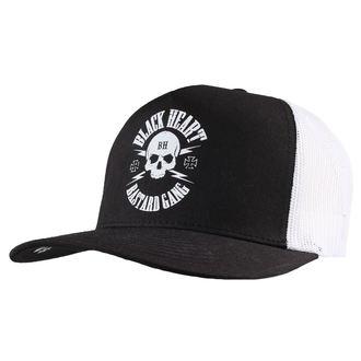 Şapcă BLACK HEART - BASTARD SKULL - WHITE, BLACK HEART