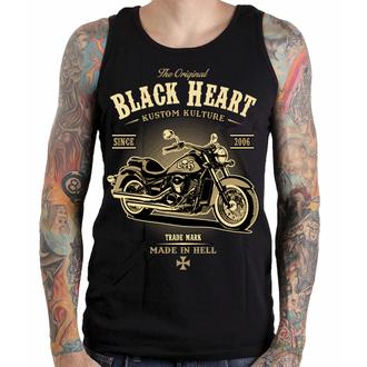 Maieu bărbați BLACK HEART - HARLEY - BLACK - 002-0023-BLK