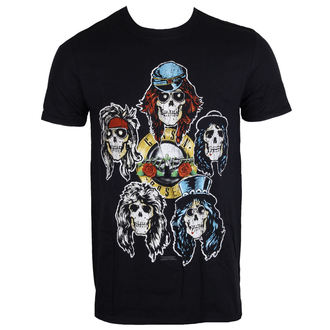 tricou stil metal bărbați Guns N' Roses - Vintage Heads - ROCK OFF, ROCK OFF, Guns N' Roses