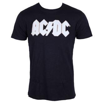 tricou stil metal bărbați AC-DC - Logo & Angus Applique Slub - ROCK OFF, ROCK OFF, AC-DC