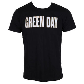 tricou stil metal bărbați Green Day - Logo & Grenade Applique Slub - ROCK OFF, ROCK OFF, Green Day