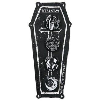 Insigne KILLSTAR - Pack 2 - Black, KILLSTAR