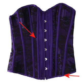 corset femei HEARTS AND ROSES - Black Purple - DETERIORATĂ, HEARTS AND ROSES