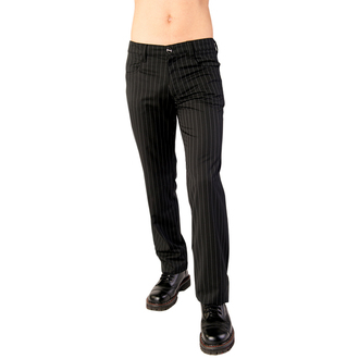pantaloni Aderlass - Blugi bolț Dunga Alb negru, ADERLASS