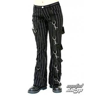 pantaloni femei Aderlass - Cruce Pantaloni bolț Dunga (Alb negru), ADERLASS
