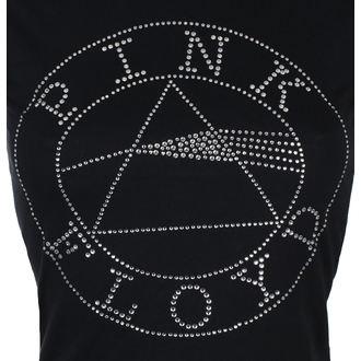 tricou stil metal femei Pink Floyd - Circle Logo Diamante - ROCK OFF, ROCK OFF, Pink Floyd