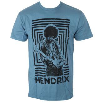 tricou stil metal bărbați Jimi Hendrix - AUTHENTIC SQUARES BLUE - BRAVADO, BRAVADO, Jimi Hendrix