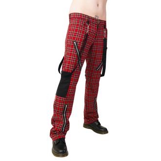 Pantaloni Black Pistol - Punk Pants Tartan Red-Green, BLACK PISTOL