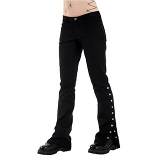 pantaloni femei Negru Pistol - Buton Hipster dril (Negru), BLACK PISTOL