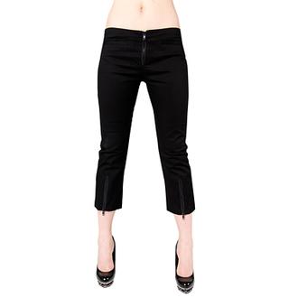 pantaloni scurți 3/4 femei Negru Pistol - Fermoar slacks dril Negru, BLACK PISTOL
