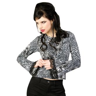 tricou stil gotic și punk femei - Ladys Longsleeve Jersey Leppard Grey - ADERLASS, ADERLASS