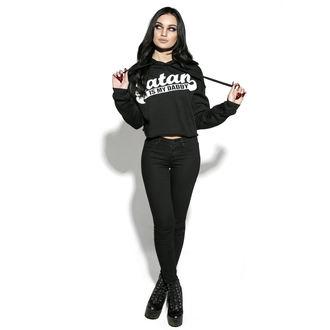 hanorac cu glugă femei - Satan Is My Daddy - BLACK CRAFT, BLACK CRAFT