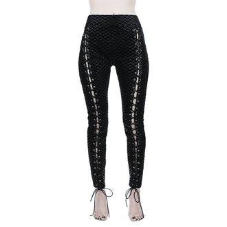 Pantaloni damă (colanți) KILLSTAR - Black Sea Lace-Up - BLACK, KILLSTAR