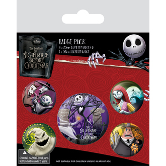 Insigne cu ac de prindere Nightmare Before Christmas - (&&string0&&) - PYRAMID POSTERS, PYRAMID POSTERS