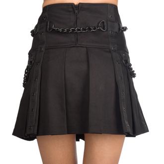 Fustă damă Pistol - Chain Denim - Black, BLACK PISTOL