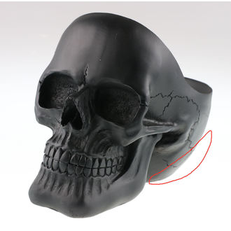 Decorațiune Skull - Black - 78/5971 - DAMAGED