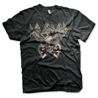 tricou stil metal bărbați Def Leppard - Flying Skulls - HYBRIS, HYBRIS, Def Leppard