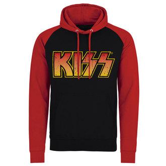 hanorac cu glugă bărbați Kiss - Distressed Logotype - HYBRIS, HYBRIS, Kiss