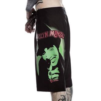 Pantaloni scurți bărbaţi (costume de baie) KILLSTAR - Marilyn Manson - Fiend - Black, KILLSTAR, Marilyn Manson