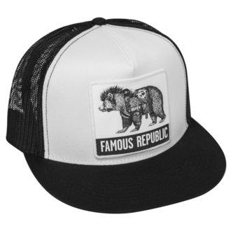 Șapcă FAMOUS STARS & STRAPS - FAMOUS REPUBLIC - BLACK WHITE, FAMOUS STARS & STRAPS