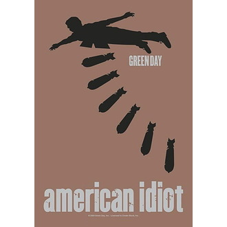 Steag Green Day - American idiot Bombs, HEART ROCK, Green Day