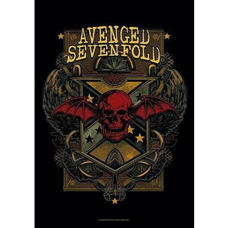 Steag Avenged Sevenfold - Death Crest, HEART ROCK, Avenged Sevenfold