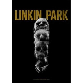 Steag Linkin Park - Living - Skull Totem, HEART ROCK, Linkin Park