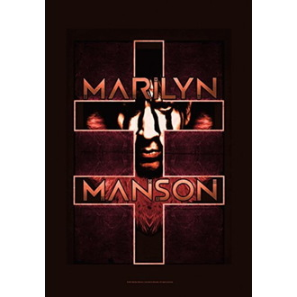Steag Marilyn Manson - Double Cross, HEART ROCK, Marilyn Manson