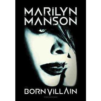 Steag Marilyn Manson - Born Villain, HEART ROCK, Marilyn Manson