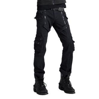 Pantaloni bărbătești PUNK RAVE - Black, PUNK RAVE