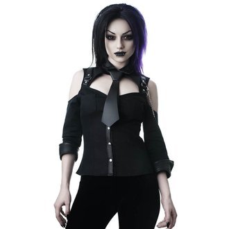 Cămașă damă KILLSTAR - Kalista Teachers Pet - BLACK, KILLSTAR