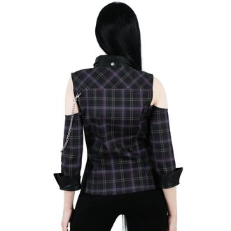 Cămaşă damă KILLSTAR - Kalista Teachers Pet - TARTAN, KILLSTAR