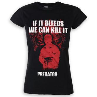 tricou cu tematică de film femei Predator - If It Bleeds - HYBRIS, HYBRIS, Predator