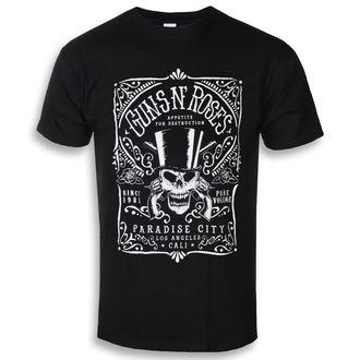 tricou stil metal bărbați Guns N' Roses - Bourbon - ROCK OFF, ROCK OFF, Guns N' Roses