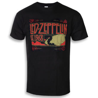 tricou stil metal bărbați Led Zeppelin - Zeppelin & Smoke Black - NNM, NNM, Led Zeppelin