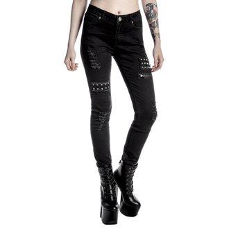 Pantaloni femei KILLSTAR - Lithium - Negru, KILLSTAR