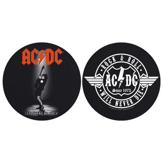 Pad Gramofon (set de 2pcs) AC / DC - LET THERE BE ROCK! ROCK AND ROLL - RAZAMATAZ, RAZAMATAZ, AC-DC