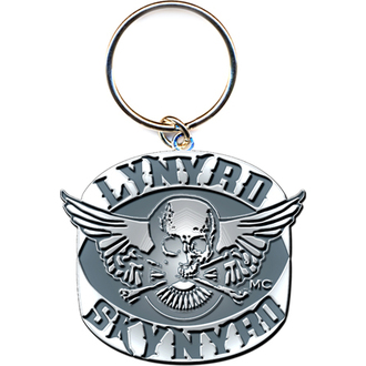 Breloc chei - pandantiv  Lynyrd Skynyrd (Biker Patch Logo) - ROCK OFF, ROCK OFF, Lynyrd Skynyrd