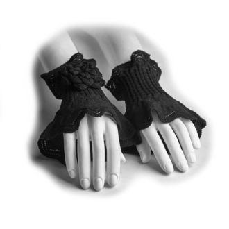 Mănuși fără degete/încălzitoare de încheietura, de damă PUNK RAVE - Rosette, PUNK RAVE